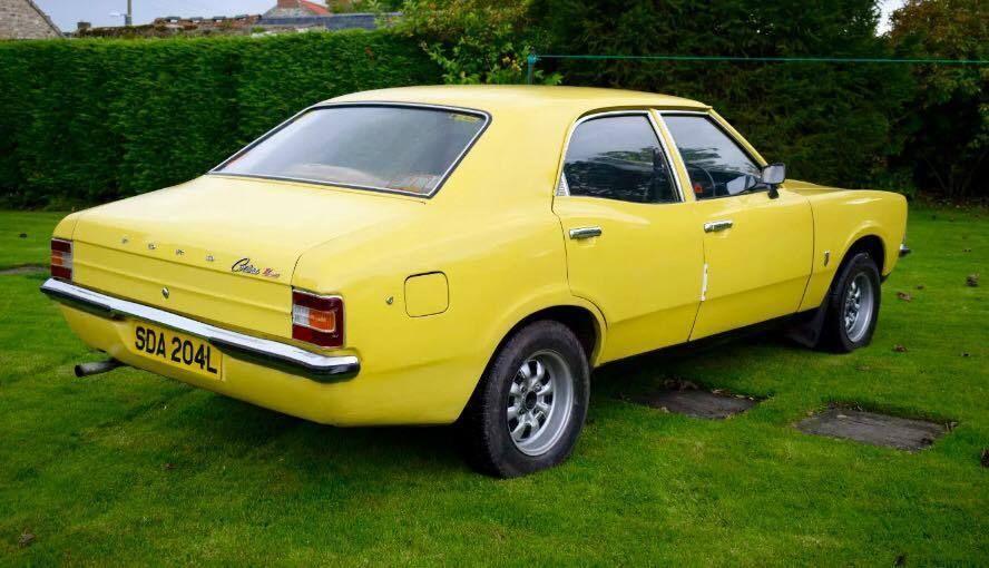 Ebay Daytona Yellow 1973 Ford Cortina Mk 3 1600l 711m Crossflow