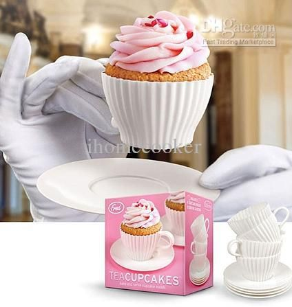 Wholesale Set of Tea Cup Silicone Cupcake Molds silicone tea cup design cupcake moulds baking trays 20sets, Free shipping, $1.31-1.99/Set | DHgate