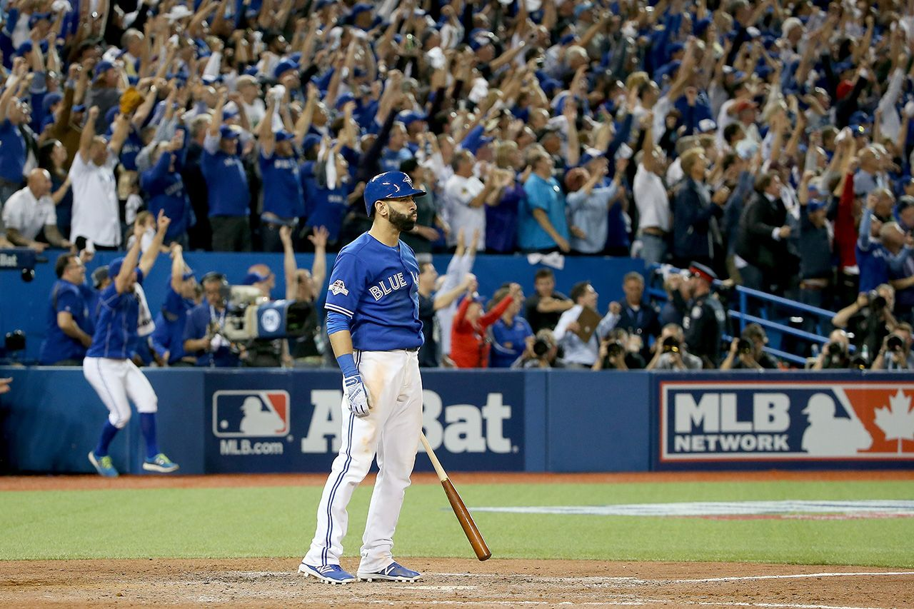 Jose bautista punctuated a rollercoaster seventh inning