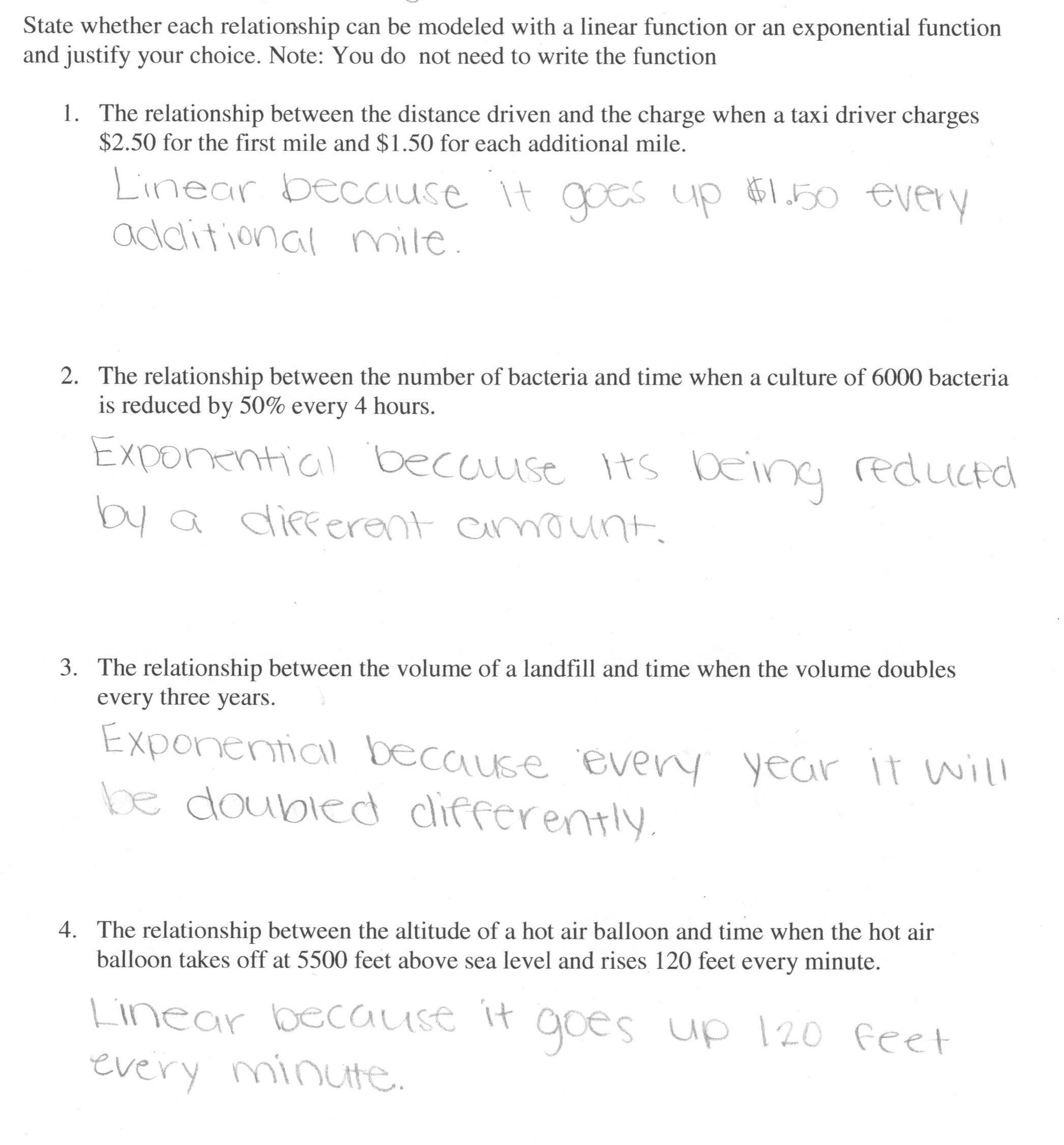 Growth And Decay Worksheet