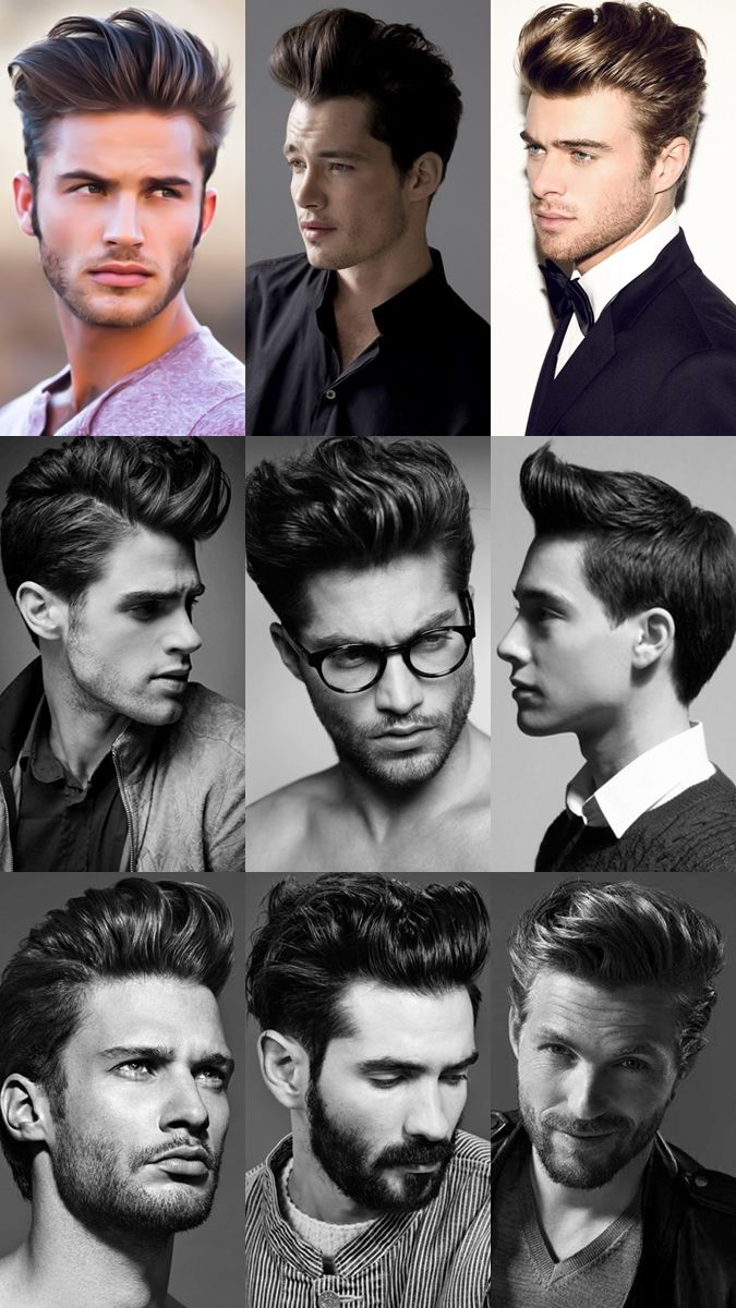 Mens Classic Pompadour Hairstyles Lookbook Hair Syles Pinterest