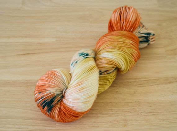 Hand Dyed Sock Yarn Sock Yarn Speckled Yarn by PineappleYarn