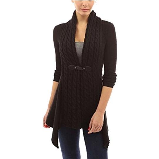 Jaycargogo Womens V-Neck Long Sleeve Twist Backless Knit Pullover Sweaters