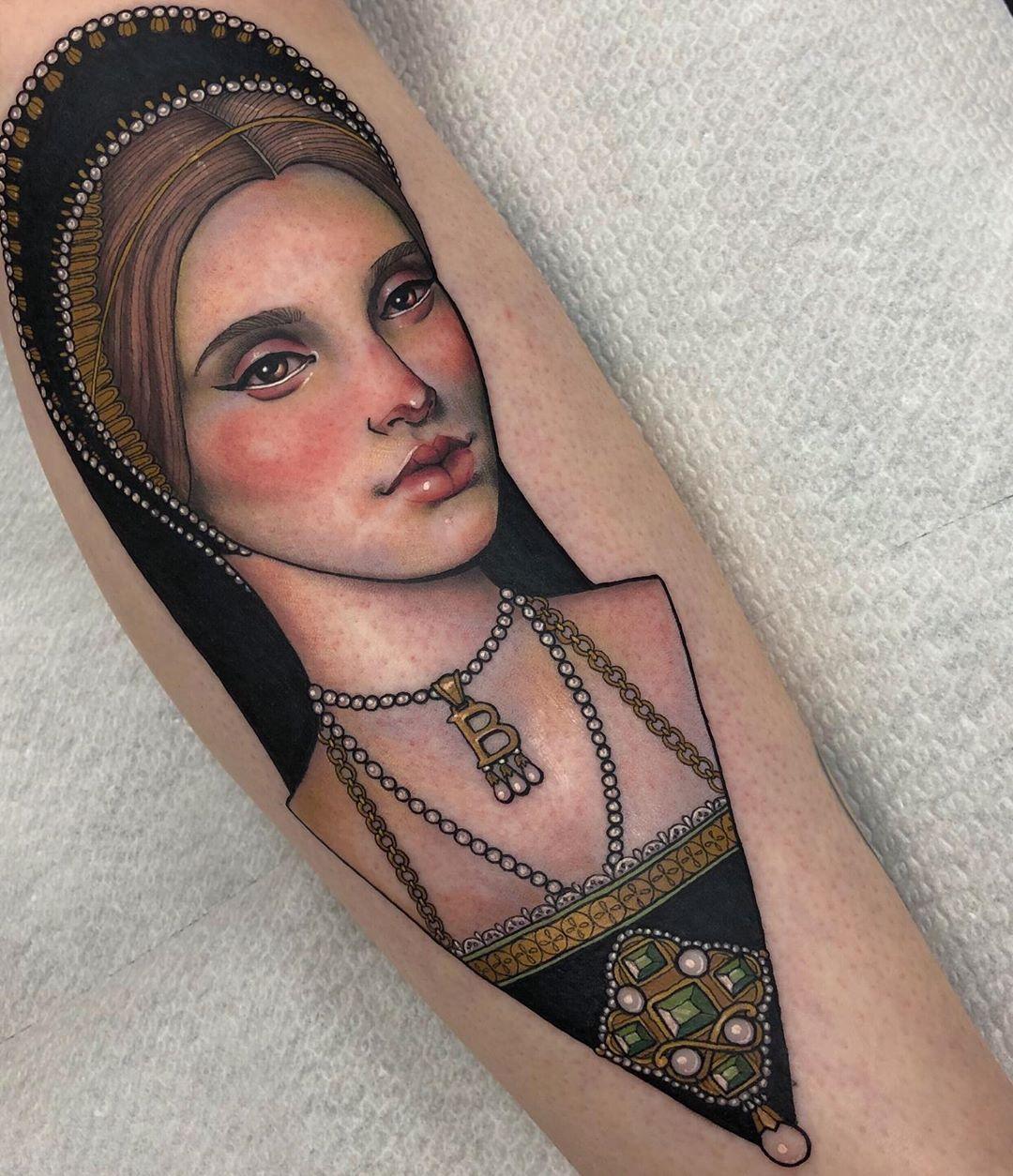 Anne boleyn for heather elegant tattoos body art