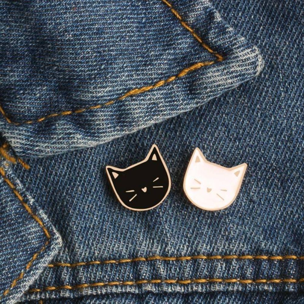 Cartoon Cat Shaped Enamel Pins 2 pcs Set  Price: 7.95 & FREE Shipping  #lovekittens #ilovemycat