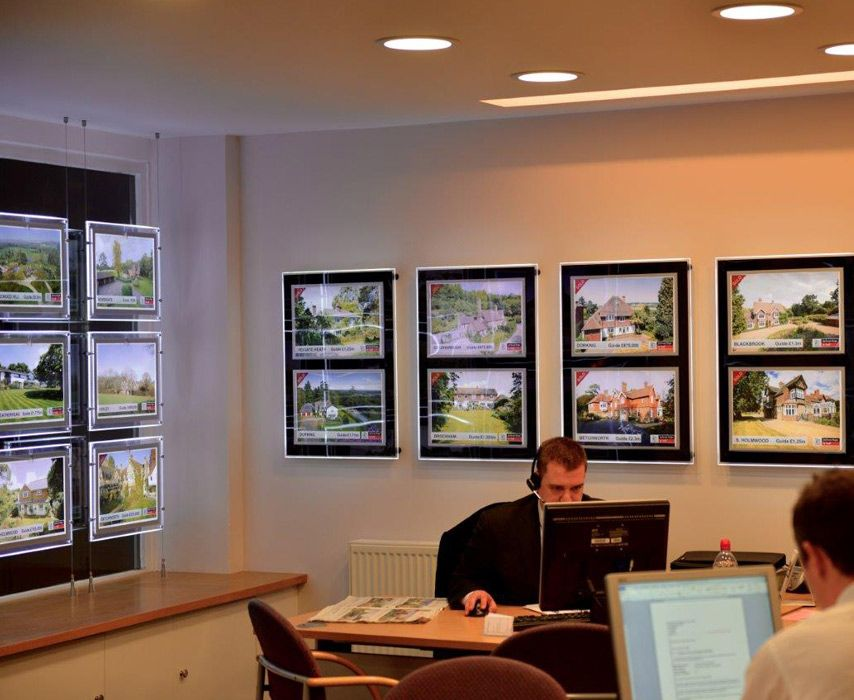 Estate agent display solutions letting agency window for Estate agency interior design