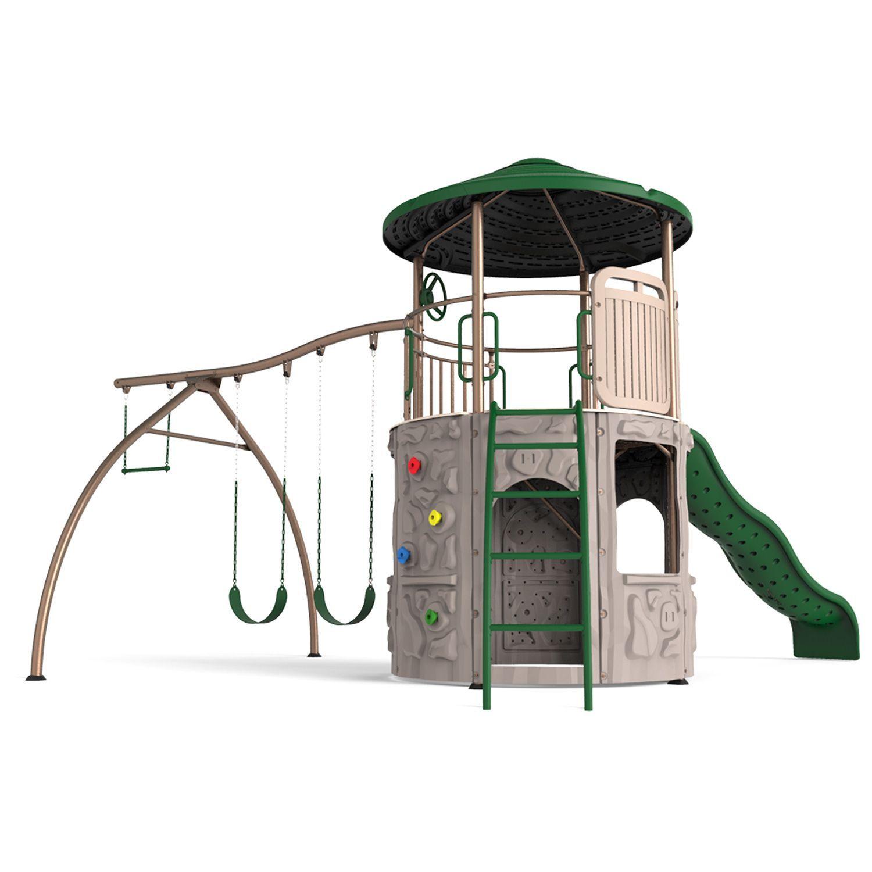 Lifetime Adventure Tower Playset Kid Stuff Playground Backyard
