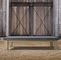 Belgian Trestle Coffee Table – Concrete & Teak | Teak ...