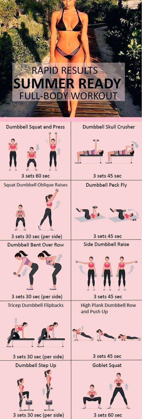 #Fitness #Workout für Frauen - Sommerfertiges Ganzkörpertraining, #fitness #frauen #ganzkorpertraini...