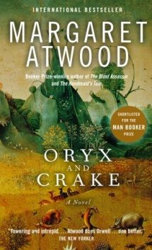 Oryx and Crake by Margaret Atwood, addictive read, luckily it's got another book that follows it.