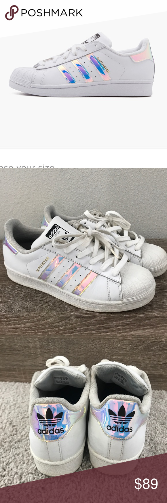 Adidas Originals Superstar J Hologram Holographic Very hard