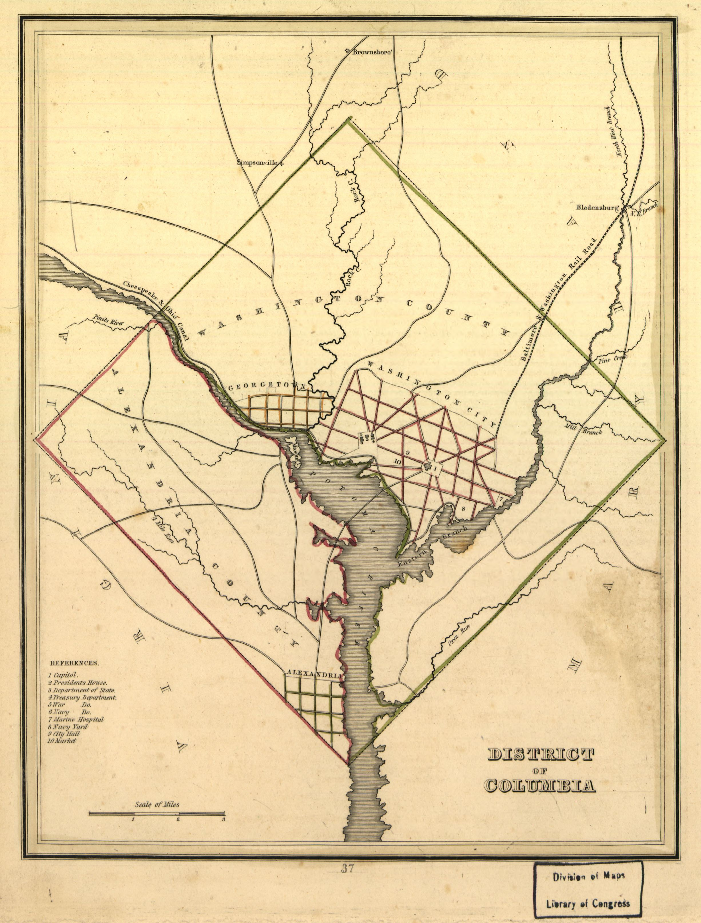 Map of the District of Columbia in 1835, prior to the ... Dc Us Map on dc city map, dc train map, dc neighborhood map, wa dc map, dc on a map, dc airports map, dc walking map, dc location on map, dc tourist map, dc tour map, dc museums map, dc transit map, dc state map, dc county map, dc capital map, dc crime map, dc attractions map, virginia map, dc road map, dc street maps,