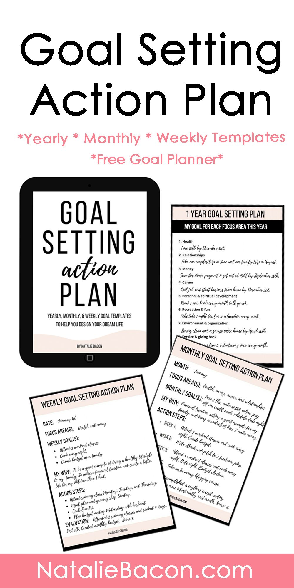 goal setting action plan free templates and goal planner. Black Bedroom Furniture Sets. Home Design Ideas