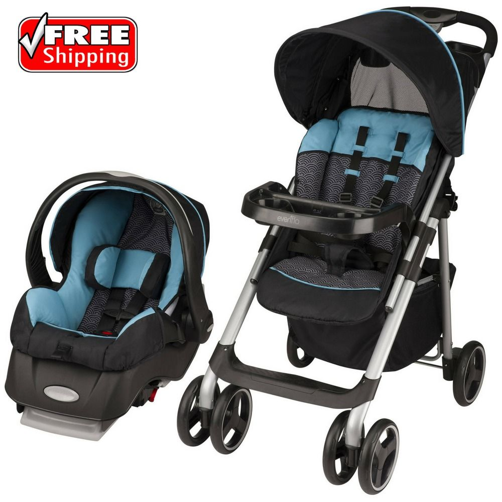Evenflo Vive Sport Baby Stroller Travel System Koi Infant
