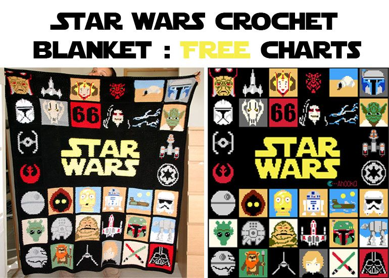 Amigurumi Star Wars Patterns : Good side of power u2013 crochet blanket [free pattern crochet