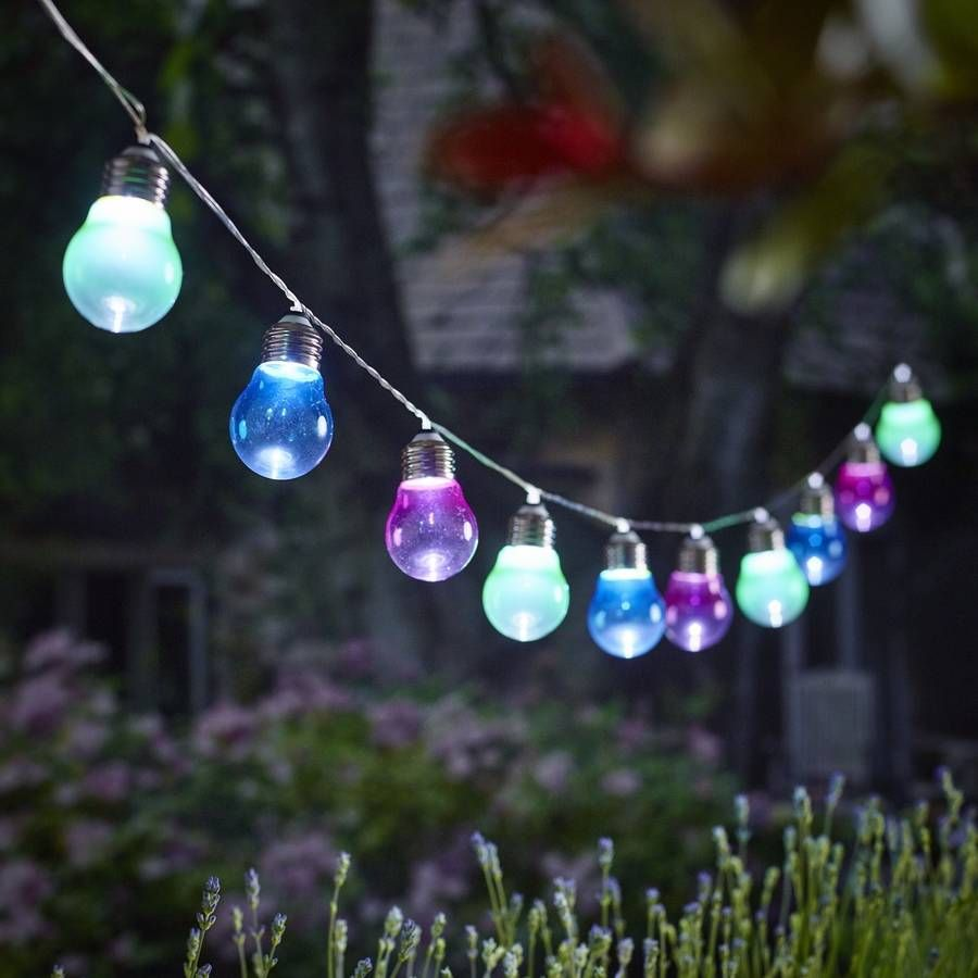 Funky Outdoor Lighting: Perfect for entertaining and outdoor dining. Grace your garden with these  funky coloured lightbulb shaped,Lighting