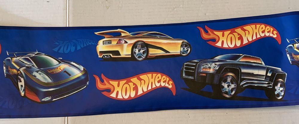 Hot Wheels Prepasted Wallpaper Border Toy Race Cars Lk1596b R 13 5 Yds 7 Tall Hotwheels Hot Wheels Prepasted Wallpaper Car Features