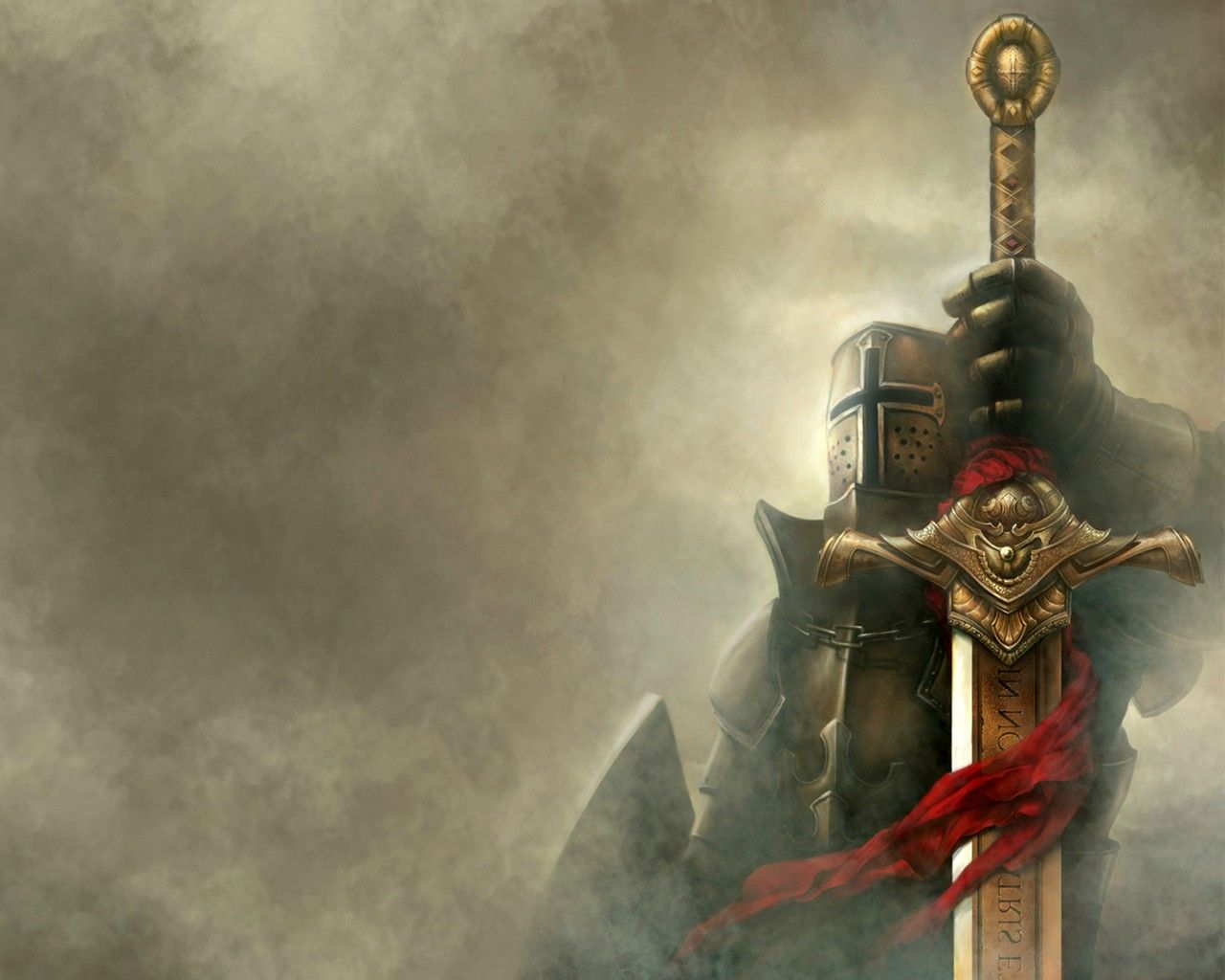 Epicmusicvn Wallpaper Knight Sword Fantasy Crusader Wallpaper