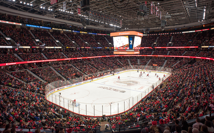Lataa kuva hockey stadium, Canadian Tire Centre, Ottawa Senators, Ottawa, Kanada, 4k, sports arena