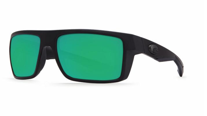 0619bf87248 COSTA DEL MAR Motu Matte Black with Green Mirror Lens 580 Glass or Plastic   Matte