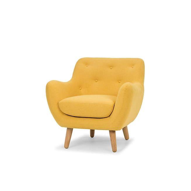 poppy meuble fauteuil esprit scandinave jaune moutarde salons - Fauteuil Scandinave Moutarde