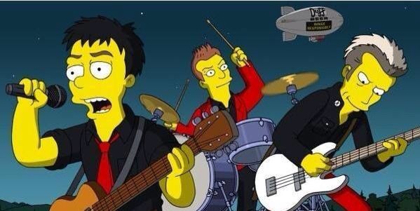 Green Day In The Simpsons Movie The Simpsons The Simpsons Movie Green Day