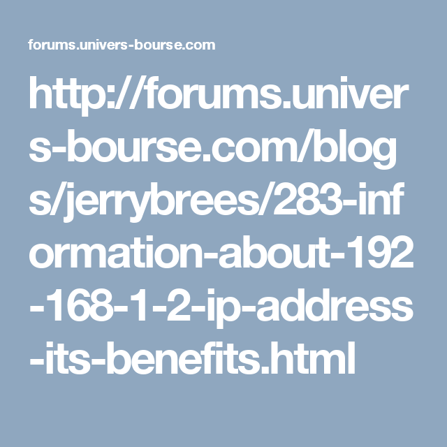 http forums univers bourse com blogs jerrybrees 283 information