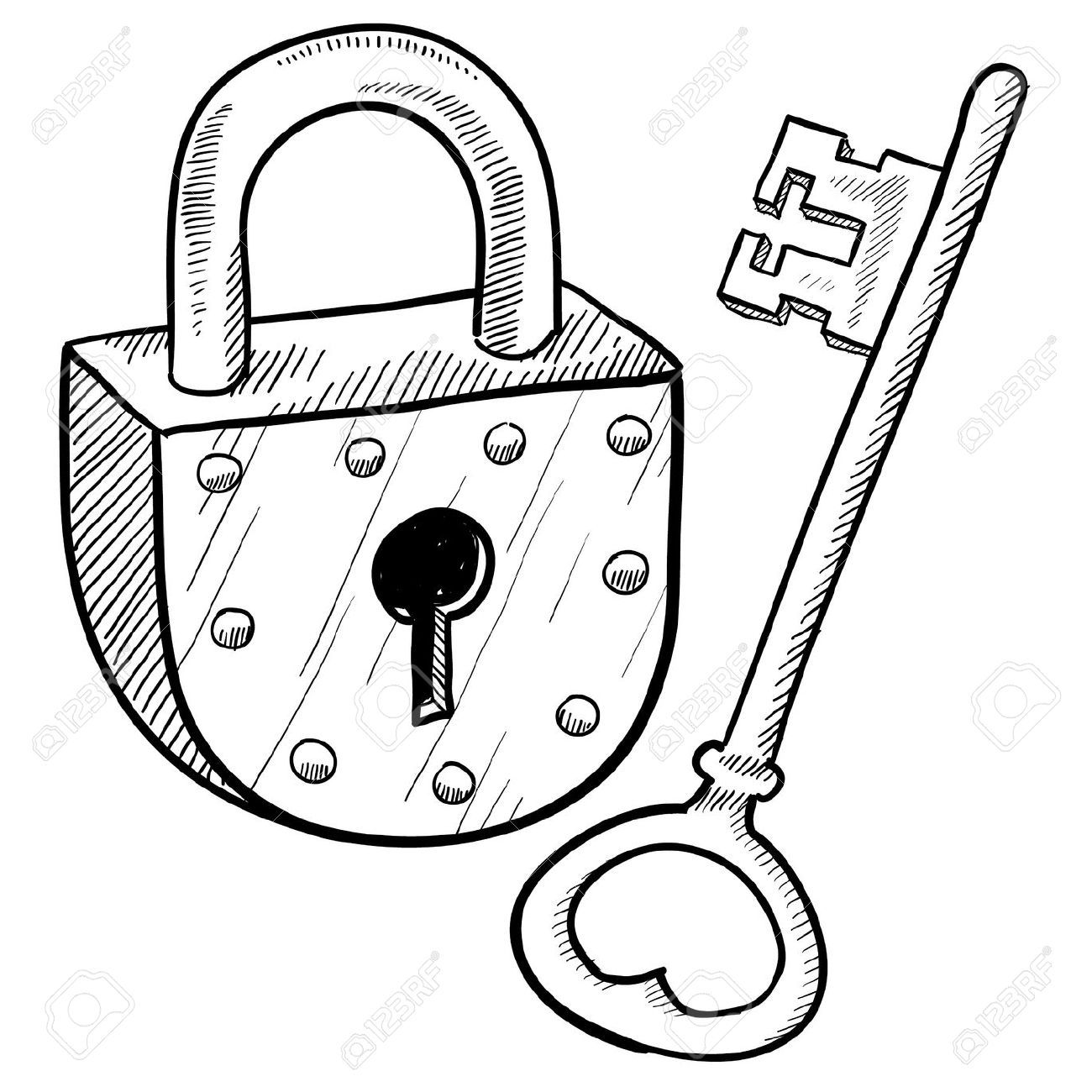 Padlock Stock Illustrations Cliparts And Royalty Free