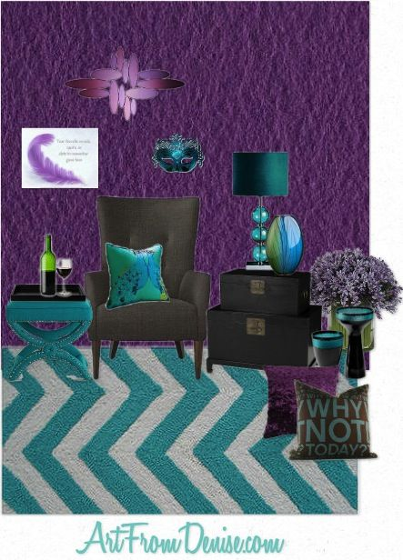 purple and gray turquoise bedroom |  gray and purple home decor