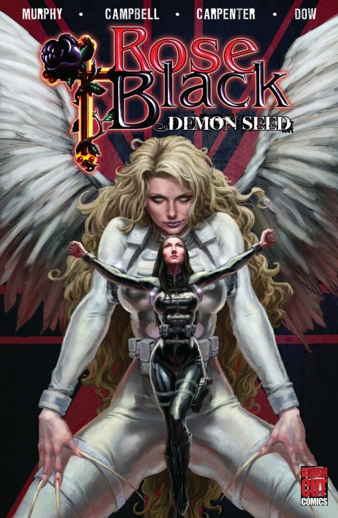 The cover image of the ROSE BLACK: DEMON SEED graphic novel created by artist Joel Carpenter