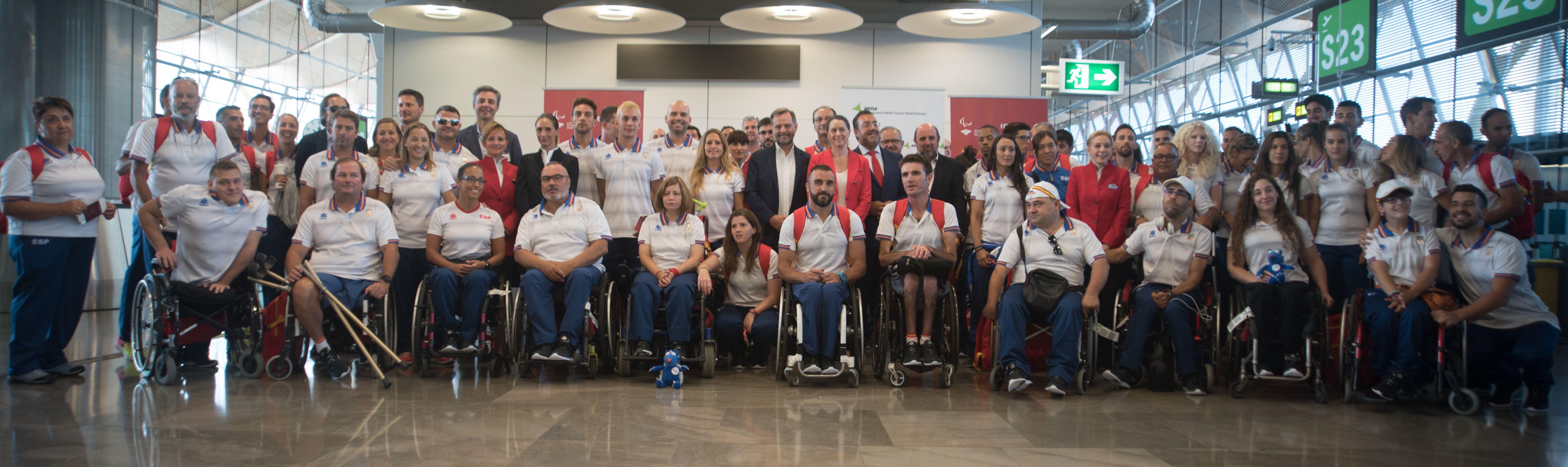 La delegación paralímpica Española camino a #Rio2016