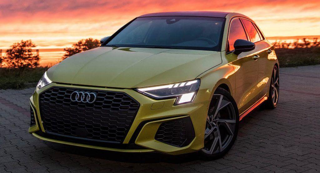 2021 Audi A3 Sportback Shows Its Artsy Side On Camera Carscoops Audi A3 Sportback Audi Audi A3