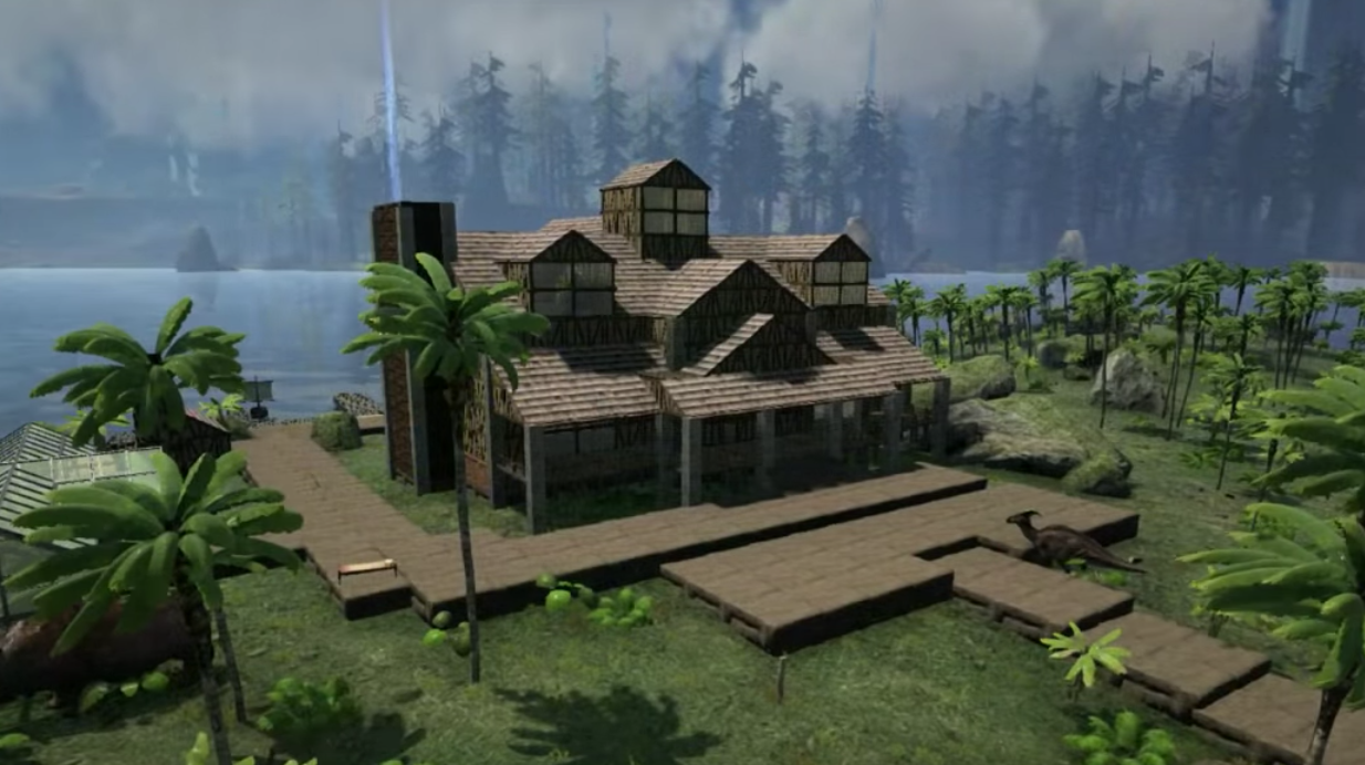 Ark survival evolved huge house design video games ps4 for Best house designs games