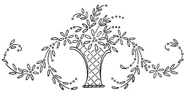 Flower Basket Flower Basket Embroidery And Flower