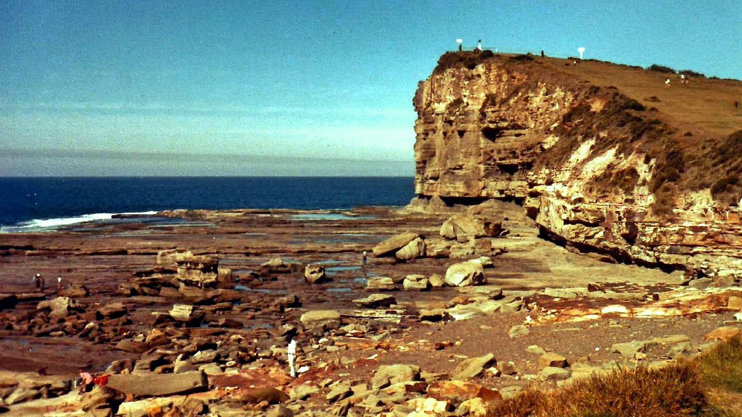 Terrigal NSW famous rock platform (1981) Tourist info