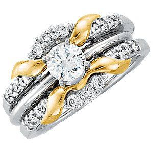 14K White & Yellow 1/3 CTW Diamond Ring Guard – Starving Jewelers
