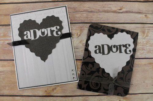 """Adore"" Two-fer Inlaid Die-Cut Card"