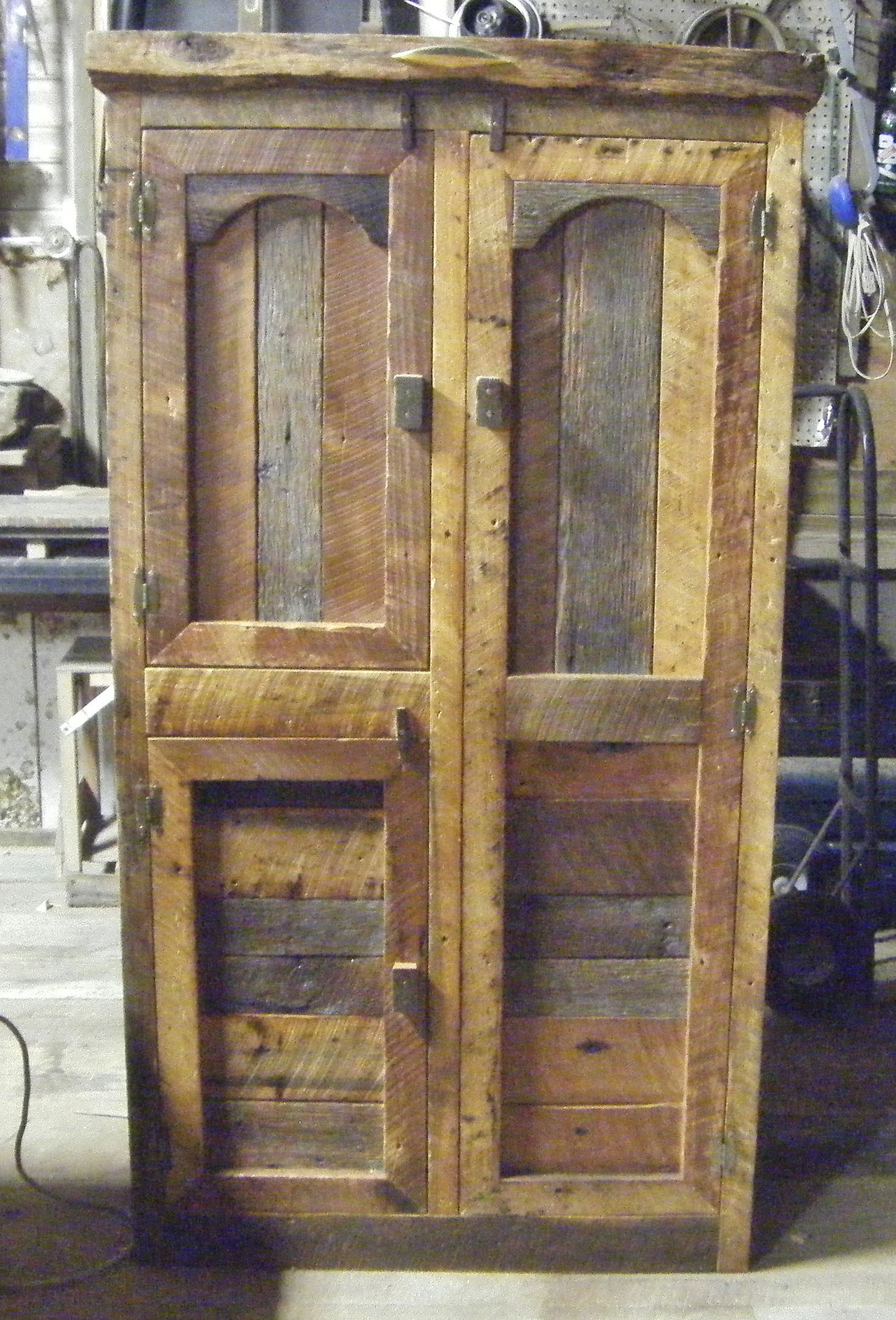 Hunting Cabinet by Barn Wood Furniture. It has a bar for clothes ...