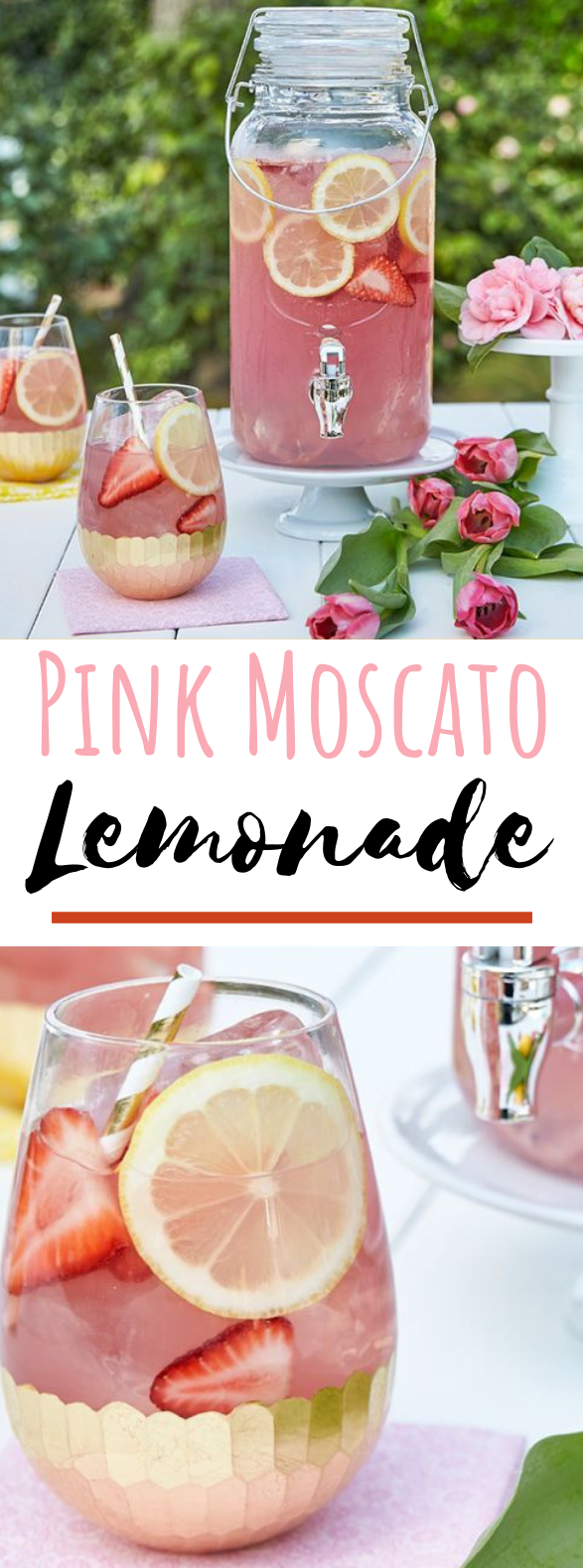 Moscato Lemonade #drinks #cocktails #lemonadepunch