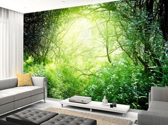 Personnalisée fond du0027écran naturel, Forêt profonde lumière, 3D
