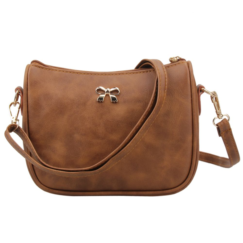 New Women Leather Handbag PU Leather Shoulder Crossbody Bag Mini Bowknot Women Messenger Bags Designer Small Women Bags Bolsa