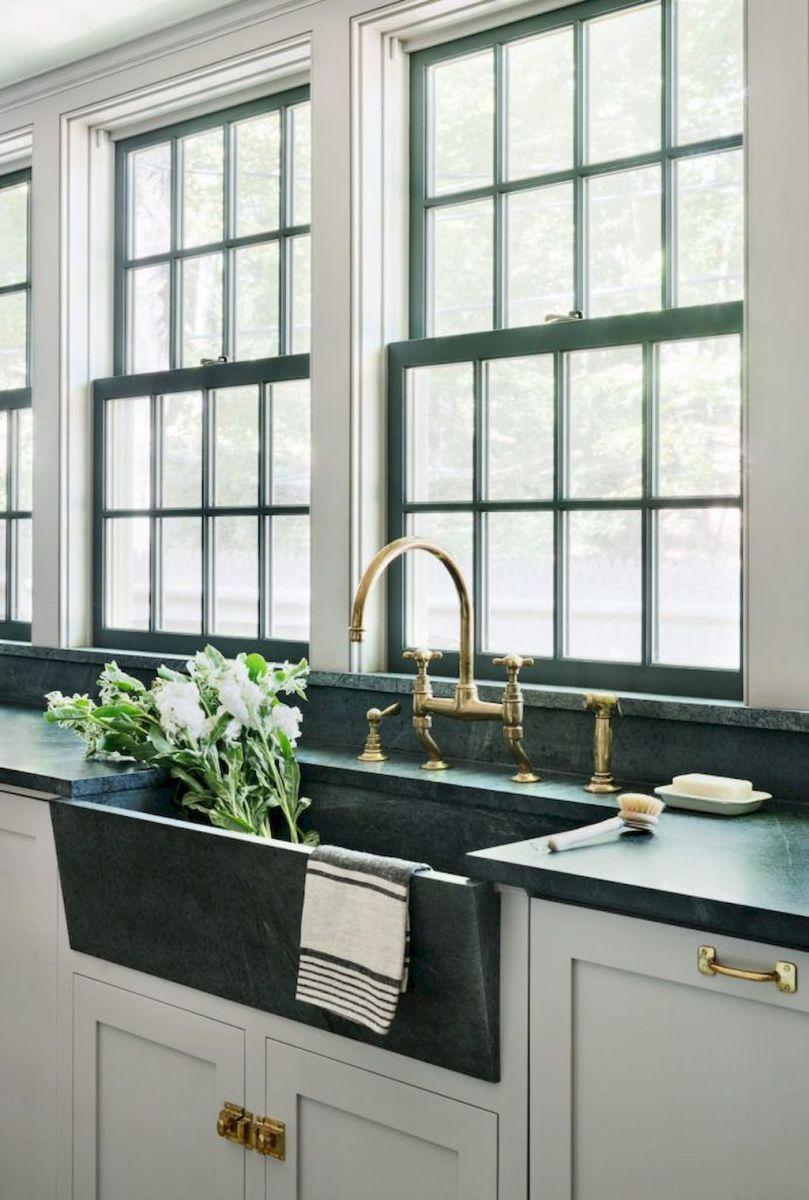 Backsplash around kitchen window   fancy farmhouse kitchen backsplash decor ideas   farmhouse