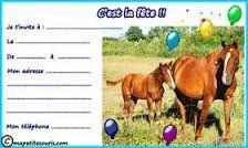 invitation anniversaire de cheval à imprimer