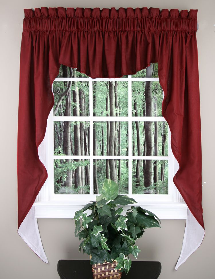 Emery curtains are a poly-cotton blend three piece swag set #Jabot ...