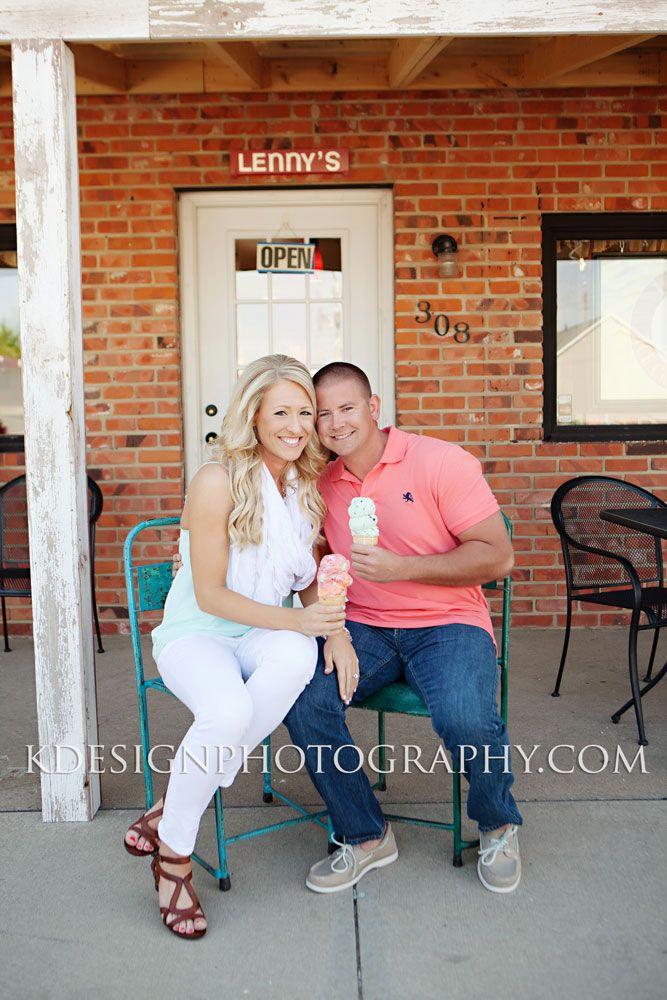 Engagement Photos, Ice Cream Shop, Lenny's, K Design Photography