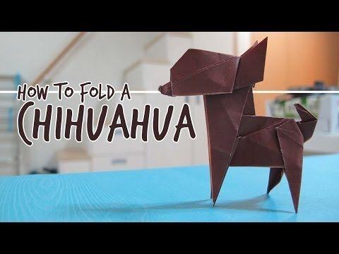 How To Fold An Origami Dog Chihuahua Fuchimoto Muneji Youtube
