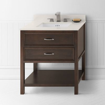 "Ronbow Newcastle 30"" Bathroom Vanity Cabinet Base in Café Walnut"