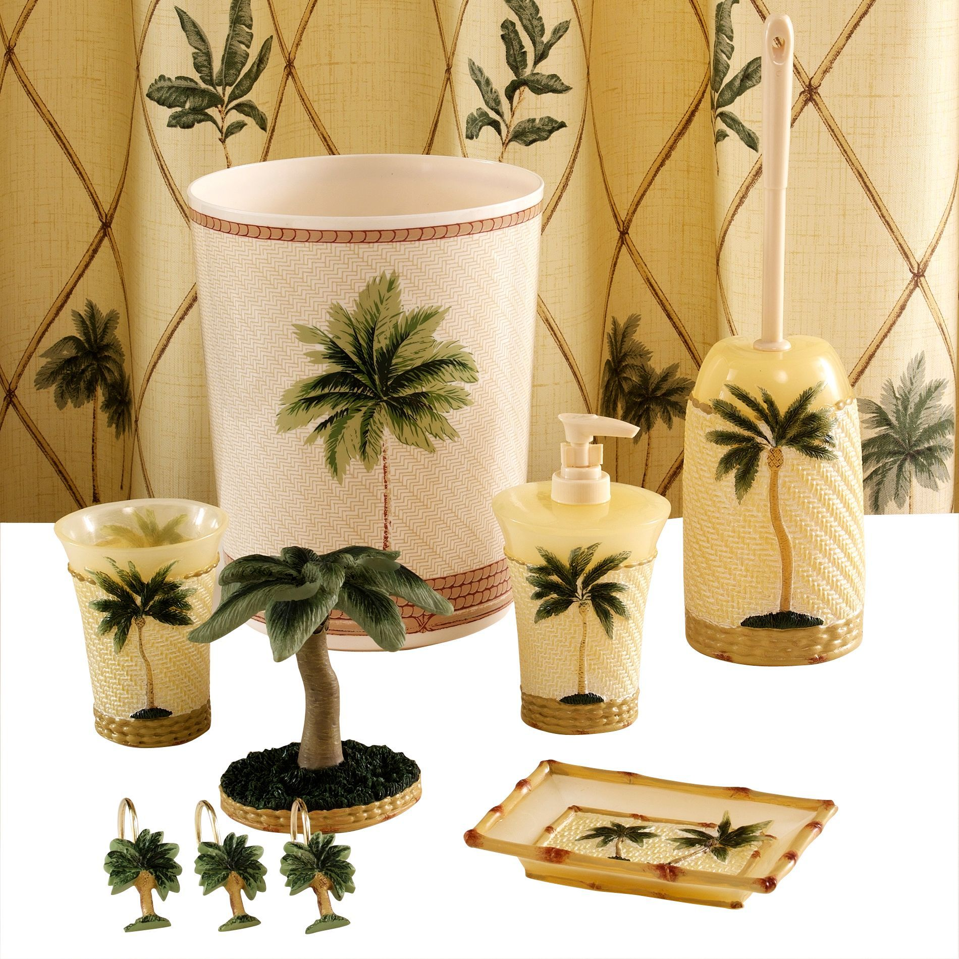 Palm Tree Bathroom Decor In 2020 With Images Palm Tree