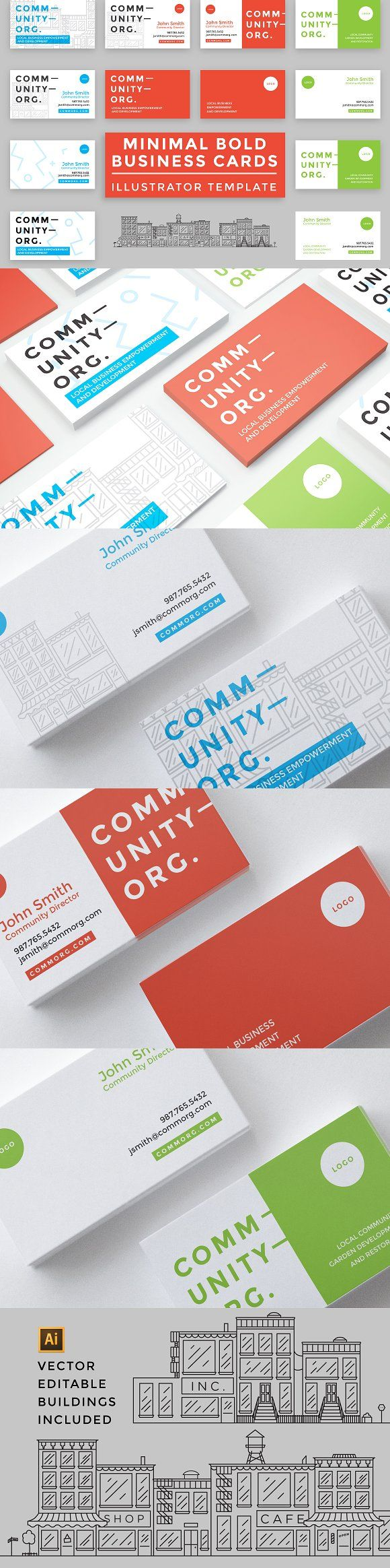 10 Minimal Bold Business Cards | Business cards, Business and Card ...