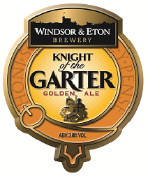 "This ale was ""Launched to coincide with the annual ceremony of the Garter held at St George's Chapel in Windsor Castle."" Even a Yank can appreciate ""a flaxen-coloured, easy drinking Golden Ale brewed with American Amarillo whole leaf hops."""